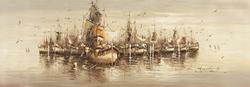- Açık Denizde Gemiler Kanvas Tablo-1