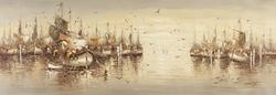 - Açık Denizde Gemiler Kanvas Tablo