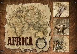 - Africa Ahşap Tablo