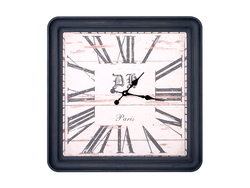 - Ahşap Roman Rakamlı Paris Saat 60x60cm
