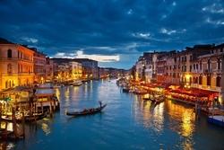 - Akşam Işığında Venedik Kanvas Tablo