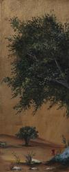 - Altın Zeminde Ağaç 2 Kabartmalı Tablo