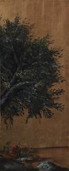 - Altın Zeminde Ağaç Kabartmalı Tablo
