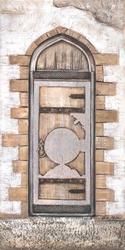 - Antik Kapı Kabartma Tablo