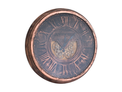 - Antiques Bakır Metal Saat çap 80cm
