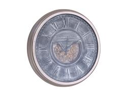 - Antiques Gümüş Metal Saat çap 80cm