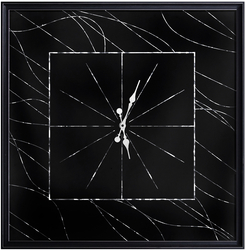 - Hologram Çizgili Duvar Saati 83x83cm