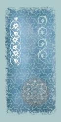 - Beyaz Detaylı Yıldız Desenli Soyut Kanvas Tablo