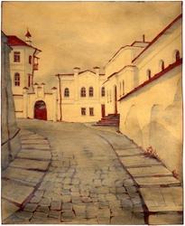 - Beyaz Taşlı Sokak Kanvas Tablo