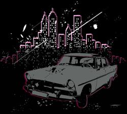- Binalar Arasın da Araba Kanvas Tablo