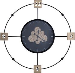 - Çarklı Metal Duvar Saati çap 97cm