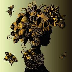 - Çiçek Sarıklı Afrikalı Kadın Kanvas Tablo