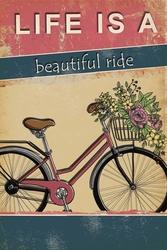 - Çiçekli Bisiklet Kanvas Tablo