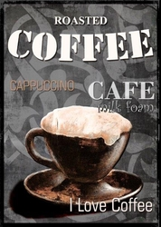 - Coffee Ahşap Tablo
