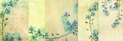 - Dalda Mavi Çiçekler Kanvas Tablo