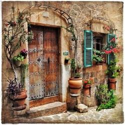 - Demir İşlemeli Kapı Kanvas Tablo