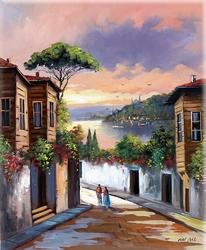 - Deniz Manzarası Kabartmalı Tablo