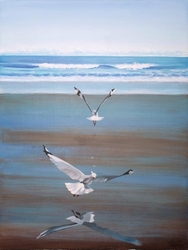 - Deniz ve Martılar Kabartmalı Tablo
