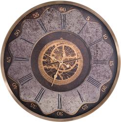 - Desenli Eskitme Altın Saat çap 80cm