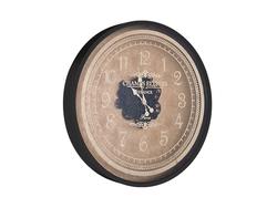 - Desenli Siyah Çarklı Saat çap 80cm
