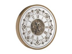- Desenli Yuvarlak Gold Çarklı Saat çap 80cm
