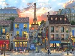 - Eiffel ve Nostaljik Kafeler Kabartmalı Tablo