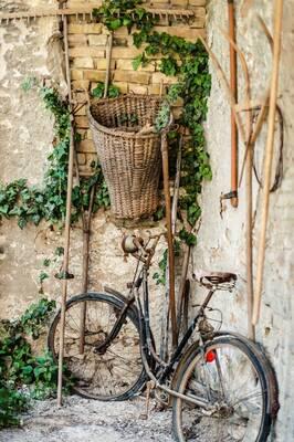 Eski Bisiklet Kanvas Tablo