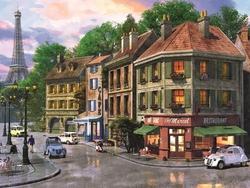 - Eski Zamanlar Paris Kabartmalı Tablo