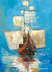 - Gemi Kabartmalı Tablo