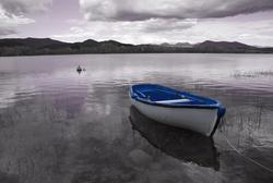 - Göl ve Sandal Kanvas Tablo