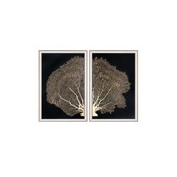 - Gold Detaylı Ağaç Set Tablo