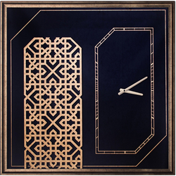 - Gold Siyah Kabartmalı Duvar Saati