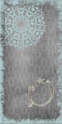 - Gri Halkalar Üstünde Mavi Desen Kanvas Tablo