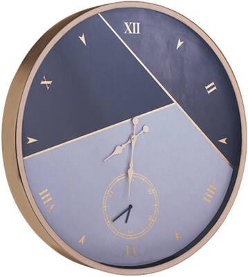 Gümüş beyaz Desenli Duvar Saati çao 80cm