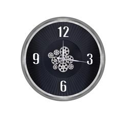 Gümüş Çarklı Saat çap 80cm - Thumbnail