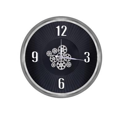 Gümüş Çarklı Saat çap 80cm