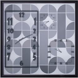 - Gümüş Desenli Duvar Saati 83x83cm