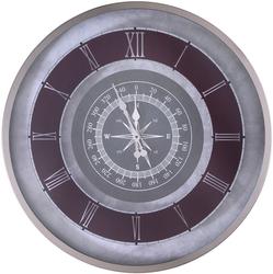 Gümüş Pusula Desenli Saat çap 80cm - Thumbnail