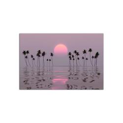 - Günbatımında Palmiyeler Kanvas Tablo