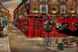 - İrlanda Barı Nostaljik Kabartmalı Tablo