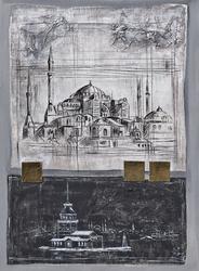 - İstanbul Kartpostal Kabartmalı Tablo
