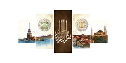- İstanbul Parçalı Kanvas Tablo