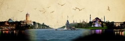 - İstanbul'un Simgeleri Kanvas Tablo