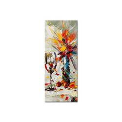 - Kadeh ve Çiçek Kanvas Tablo