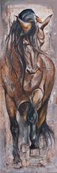 - Kahverengi At Kabartmalı Tablo