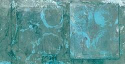 - Karelerde Mavi Halkalar Kanvas Tablo