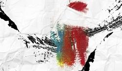 - Kırışmış Kağıt Üstünde Renkler Kanvas Tablo