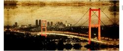 - Kırmızı Boğaziçi Köprüsü Kanvas Tablo