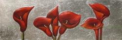 - Kırmızı Lilyumlar Kanvas Tablo