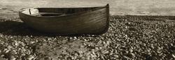 - Kıyıda Sandal Kanvas Tablo